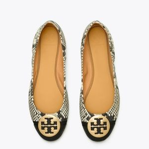 TORY BURCH Minnie Cap-Toe Ballet Shoes Size 8